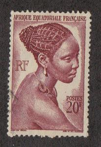French Equatorial Africa Bacongo Woman (Scott #183) Used