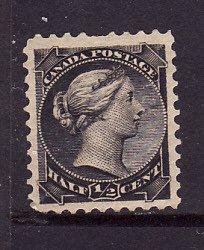 Canada-Sc#34- Unused hinged 1/2c black Small Queen QV-og-1882-cdn1110a-