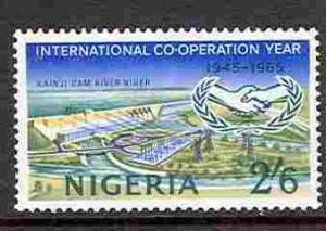 Nigeria # 180 Intl Cooperation Year - dam  (1) Unused VLH