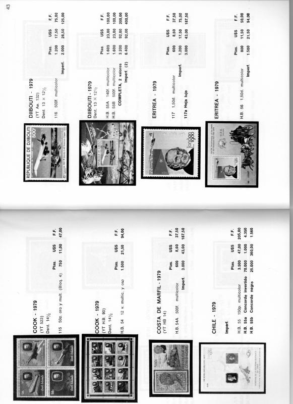 Catalogue CONCORDE MARINO MONTERO 1981 56 pages Collector's Piece !!!