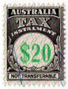 (I.B) Australia Revenue : Tax Instalment $20