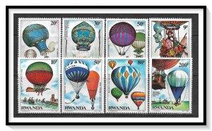 Rwanda #1183-1190 Hot Air Balloons Set MNH