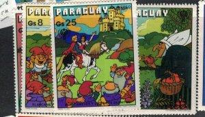 Paraguay SC 1866-8 MNH (7eek)