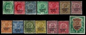 1907-24- India Chamba State #30-43 - Most OGLH - VF - CV$106.35  (ESP#4374)