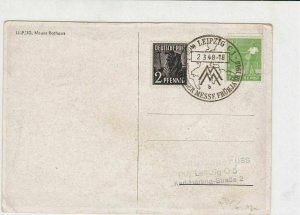 German 1948 Leipzig Cancel photo of Leipzig Town Hall Stamps Card R 16811