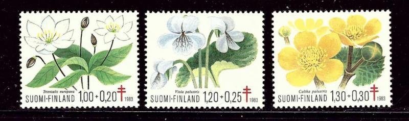 Finland MNH B230-2 Flowers TB Society 1983 SCV 3.00