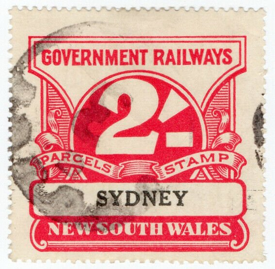 (I.B) Australia - NSW Government Railways : Parcels Stamp 2/- (Sydney)
