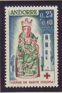 Andorra (French Administration) Stamp Scott #B1, Mint Hinged - Free U.S. Ship...