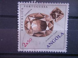 ANGOLA, 1970, used 2e, Scott 554, Fossils and Minerals