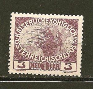 Austria B3 Semi Postal Mint Hinged