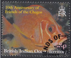 BIOT 2001 used Sc #252 58p Reef fish Friends of the Chagos 10th ann
