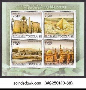 TOGO - 2012 UNESCO MONUMENTS OF EGYPT / PYRAMIDS - MIN/SHT MNH