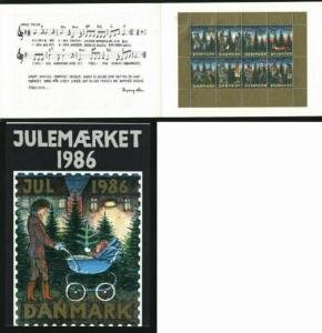 Denmark. Christmas Seals 1986. Souvenir Folder. Christmas In The Forest