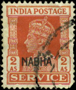 India, Convention States, Nabha Scott #O46 SG #O62 Used