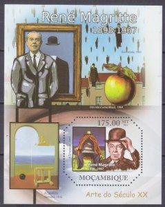 2011 Mozambique 4696/B472 Artist / Rene Magritte 10,00 €