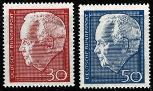 GERMANY 1967 RE-ELECTION of PRESIDENT LUBKE MINT (NH) SG1447-48 P.14 SUPERB