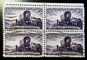 950 Utah, Circulated block Block,  Vic's Stamp Stash