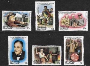 Antigua & Barbuda  (1982)  - Scott # 676  - 681,   MNH
