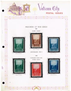 ITALY VATICAN CITY MH/OG STAMPS ALBUM PAGE COLLECTION LOT  #10
