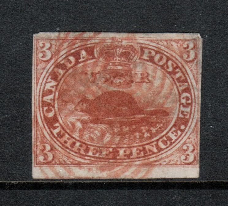 Canada #4 Used Fine With Scarce Red Cancel
