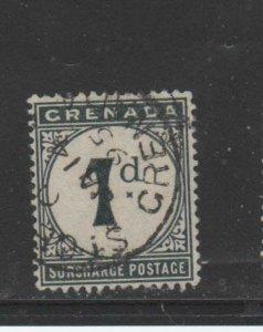 GRENADA #J1  1892  1p  POSTAGE DUE       F-VF  USED