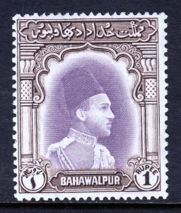 BAHAWALPUR — SCOTT 12 (SG 29) — 1948 1r AMIR KHAN V — MLH — SCV $30.00
