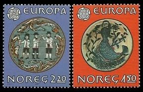 Norway 1981 #781-2 MNH. Folklore, Europa