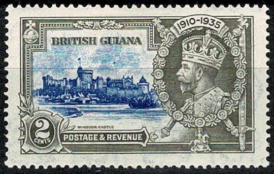 BRITISH GUIANA 1935 KG V 2c ULTRAMARINE & GREY NEW VARITY MH Wmk.MSCA VGC