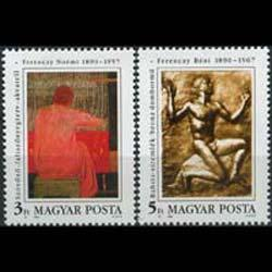 Hungary MNH 3249-50 Art 1990