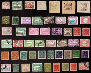 50  All Different CHARKHARI Stamps  (INDIAN STATE)