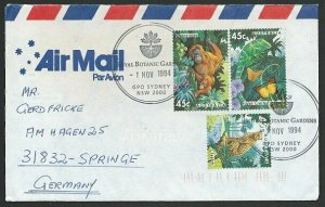AUSTRALIA 1994 cover to Germany - nice franking - Sydney Pictorial pmk.....47133
