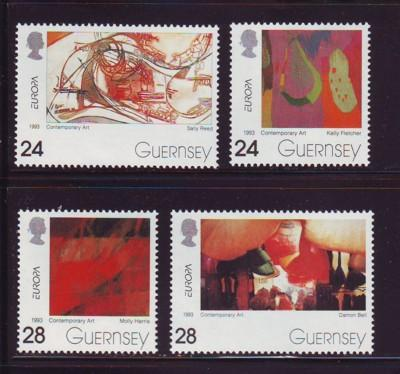 Guernsey Sc 511-14 1993 Europa  stamps NH