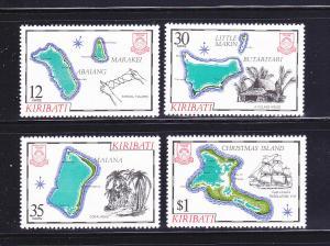 Kiribati 369-372 Set MNH Maps (B)