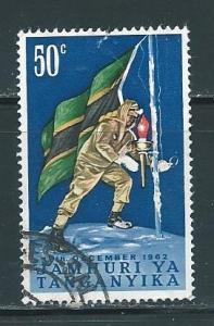 Tanganyika 58 50c Hoisting Flag single Used