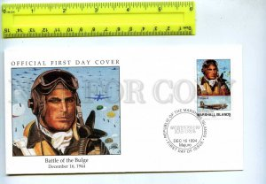 242057 MARSHALL ISLANDS WWII Battle of Bulge 1994 year FDC