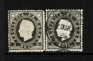 Macao SC# 35, Mint and Used, Hinge Remnant, Mint No Gum, see notes - S8303