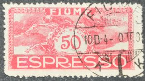 DYNAMITE Stamps: Fiume Scott #E3 – USED