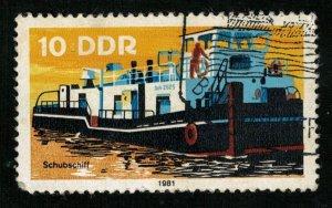 Schubschiff, DDR, 10 Pf., Ship, 1981 (T-6380)