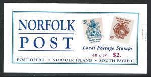 Norfolk Island MNH booklet  sc 614a - 615a / sg sb8
