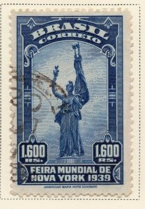 Brazil 1939 Early Issue Fine Used 1.600r. NW-12110