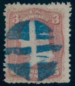 US Scott #85 Used, FVF, Blue Cxl, PFC