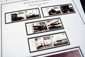 COLOR PRINTED BRITISH ANTARCTIC 2011-2020 STAMP ALBUM PAGES (33 illustr. pages)