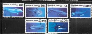 Benin #936-941 Whales (CTO) CV $4.50