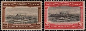 Uruguay Scott 177-178 MH* Perforated ship set 1909