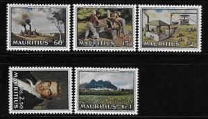 Mauritius 1969 Telfair's improvements of the sugar industry Sc 363-367 MNH A956
