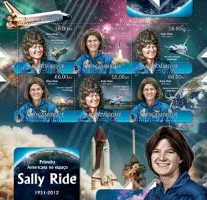 Mozambique MNH S/S Sally Ride Space 2012 6 Stamps