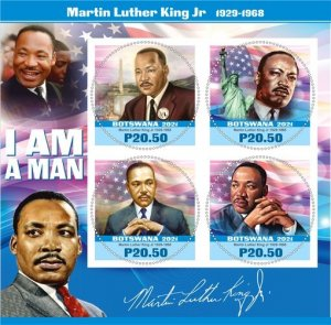 Stamps. Martin Luther King Set 2 sheet perforated