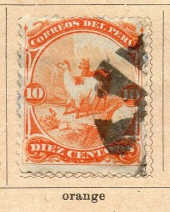 Peru 1895-96 Early Issue Fine Used 10c. NW-11682