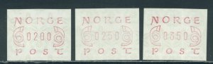 Norway Frama Labels EA2 - 3 values MNH cgs