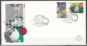 Netherlands, Scott cat. 705-706. Billiards & Checkers on a First day cover. ^